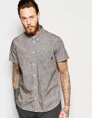 PS by Paul Smith Классическая рубашка с короткими рукавами и принтом Jeans. Цвет: кремовый