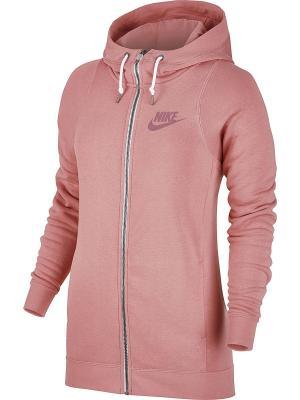 Толстовка W NSW MODERN HOODIE FZ Nike. Цвет: красный