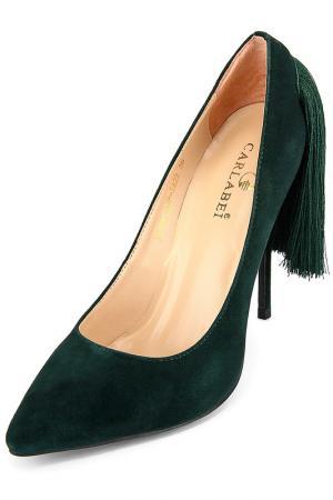 Туфли Carlabei. Цвет: зеленый