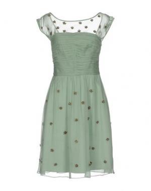 Короткое платье MIGUEL PALACIO for HOSS INTROPIA. Цвет: светло-зеленый