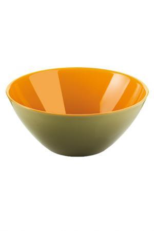 Салатница My Fusion 20 см GUZZINI. Цвет: зеленый, оранжевый
