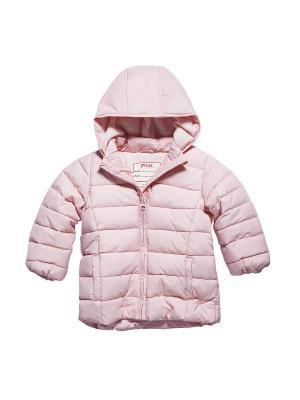 Куртка FOX. Цвет: розовый