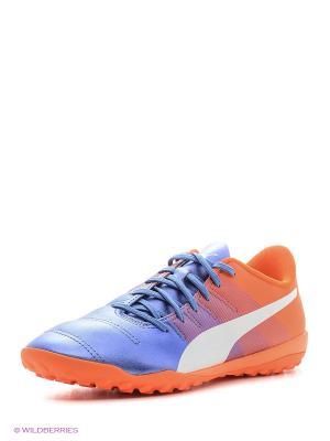Бутсы evoPOWER 4.3 TT Puma. Цвет: голубой, оранжевый