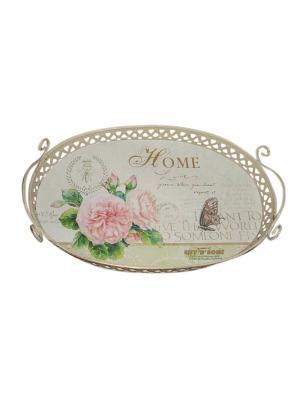 Поднос Gift'n'Home. Цвет: бежевый, розовый, зеленый
