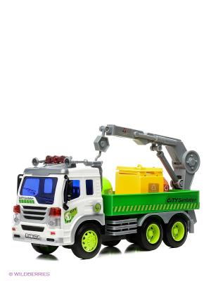 Машина грузовик- мусоровоз с манипулятором Drift. Цвет: зеленый