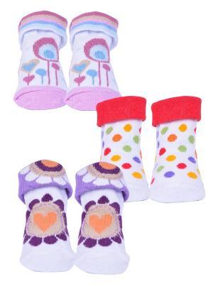Носки, 3 пары Malerba. Цвет: сиреневый, красный, фиолетовый