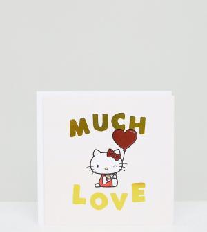 ASOS Открытка с надписью Much Love Jolly Awesome x Hello Kitty эксклюзивно. Цвет: мульти