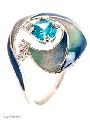 Кольцо Lovely Jewelry. Цвет: бирюзовый