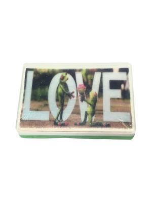 Мыло MADE WITH LOVE. Цвет: зеленый