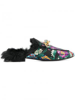 Мюли с вышивкой Emanuela Caruso. Цвет: многоцветный