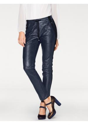 Кожаные брюки PATRIZIA DINI by Heine. Цвет: оливковый, темно-синий