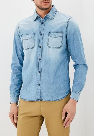 Рубашка джинсовая Sisley. Цвет: голубой
