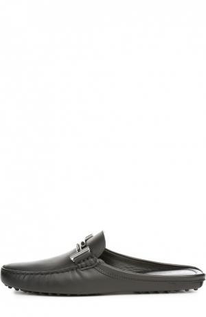 Кожаные сабо с пряжкой Tod's. Цвет: черный