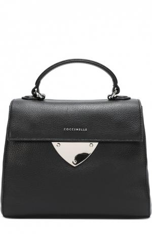 Кожаная сумка B14 Coccinelle. Цвет: черный