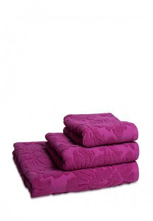 Комплект полотенец 3 шт. Bellehome. Цвет: фуксия
