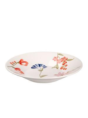 Набор тарелок суповых МАЙ 22 см 6 шт Biona. Цвет: белый