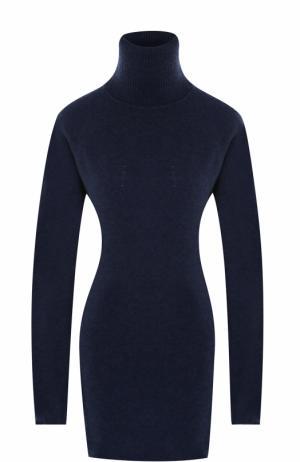 Удлиненный шерстяной свитер с высоким воротником Tegin. Цвет: голубой