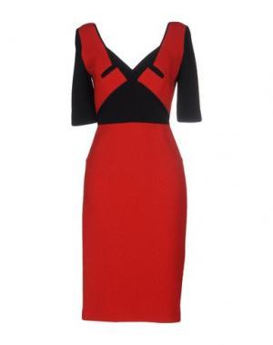 Платье до колена ROLAND MOURET. Цвет: красный