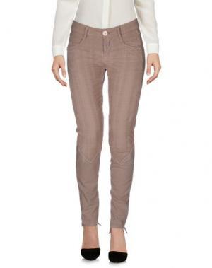 Повседневные брюки LE JEAN DE MARITHÉ + FRANÇOIS GIRBAUD. Цвет: голубиный серый