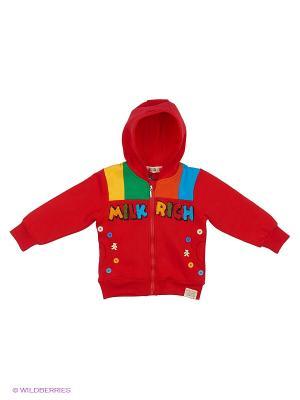 Куртка трикотажная с начёсом Kidly. Цвет: красный