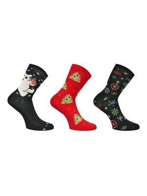 Носки, 3 пары Master Socks. Цвет: антрацитовый, темно-красный