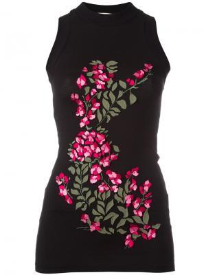 Топ с цветочным украшением Ssheena. Цвет: чёрный