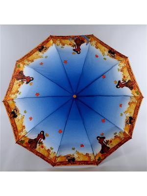 Зонт Zest. Цвет: синий, рыжий, серебристый