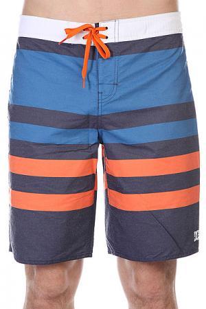 Шорты пляжные DC Ocean Hill Indigo Shoes. Цвет: синий,оранжевый,голубой