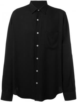 Объемная рубашка Ami Alexandre Mattiussi. Цвет: чёрный