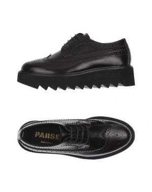 Обувь на шнурках PAUSE. Цвет: красно-коричневый