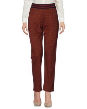 Повседневные брюки SAVE THE QUEEN. Цвет: коричневый
