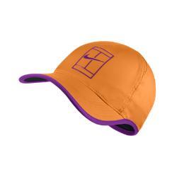 Теннисная бейсболка с застежкой Court AeroBill Featherlight Nike. Цвет: оранжевый
