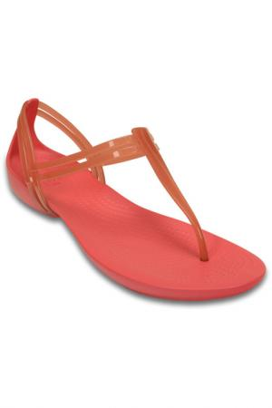 Шлёпанцы Crocs. Цвет: коралловый