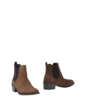 Полусапоги и высокие ботинки EYE. Цвет: какао