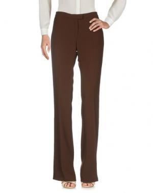 Повседневные брюки AISHHA. Цвет: темно-коричневый