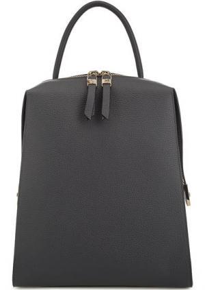 Серый рюкзак из мягкой кожи Gironacci. Цвет: серый