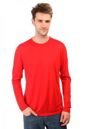 Термобелье (верх)  Base Ls 140 Red Super Natural. Цвет: красный