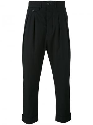 Pleated trousers Wooster + Lardini. Цвет: чёрный