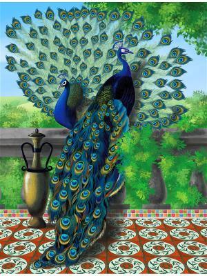 Накбор для вышивки бисером Павлины Матренин Посад. Цвет: синий, зеленый, коричневый