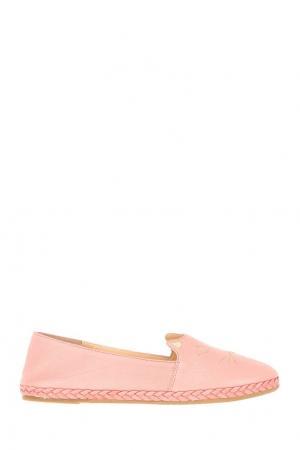 Кожаные эспадрильи Kitty Espadrille Charlotte Olympia. Цвет: розовый