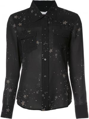 Прозрачная рубашка с принтом звезд A.L.C.. Цвет: чёрный