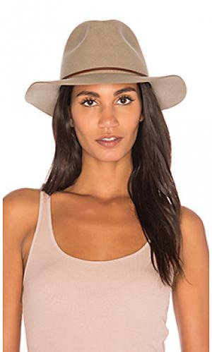 Шляпа федора wesley Brixton. Цвет: зеленый