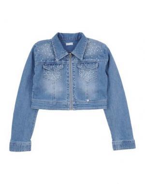 Джинсовая верхняя одежда MICROBE. Цвет: синий