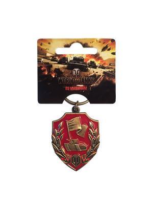 Брелок металлический Защитник World of Tanks. Цвет: бронзовый
