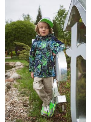 Куртка Oldos. Цвет: зеленый, синий