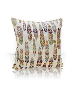 Декоративная подушка Ferro Kauffort. Цвет: зеленый, бежевый, кремовый