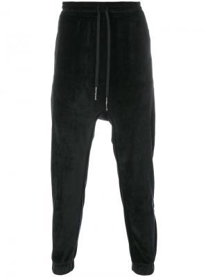 Спортивные брюки с заниженной проймой 11 By Boris Bidjan Saberi. Цвет: чёрный