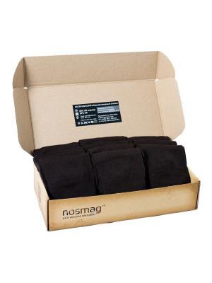 Набор коричневых носков Мерсеризованный хлопок с сургучной печатью, 10 пар NosMag. Цвет: темно-коричневый