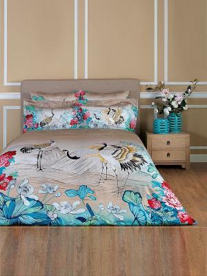 Комплект постельного белья Хокку TOGAS. Цвет: бирюзовый