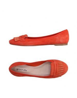 Мокасины STATUS. Цвет: оранжевый